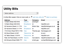 utility bills software