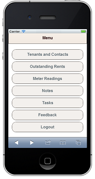 Mobile Version of free landlord software by Property Hawk